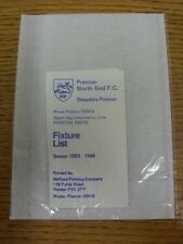 1983/1984 Fixture List: Preston North End - Official Four Page Card . Thanks for