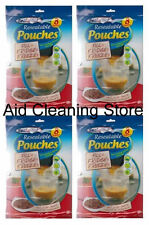 4 x Sealapack Resealable Food Soup Bag Pouches Pack Of 8 Fill Fridge Freeze 1L