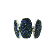 De GRISOGONO 18K WHITE GOLD SAPPHIRE & DIAMONDS ADJUSTABLE SWITCH RING BAND