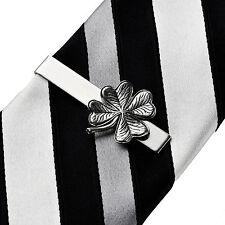 Shamrock Irish Tie Clip - Tie Clasp - Business Gift - Handmade - Gift Box