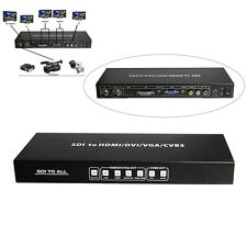 Hot 3G HD SDI to ALL Scaler Converter CVBS VGA DVI HDMI and Analog Audio