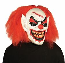 Creepy Clown Mask Scary Evil Halloween Costume Carver Adult Latex 31215