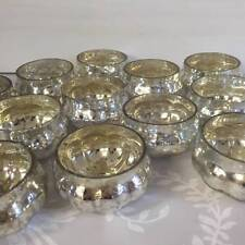 NEW Set of 40 Silver Mercury Glass Pumpkin Tea Light Holders Wedding Decorations
