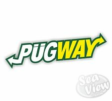 Pugway Pug Peugeot Car Van Stickers Decal Funny Sticker