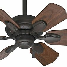 """31"""" Casablanca DAMP Rated Bathroom Ceiling Fan, Brushed Cocoa - 3-Position Mount"""