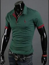 New Men Slim Fit Short Sleeve Polo Shirt Tops Stylish Summer Casual T-Shirts Tee