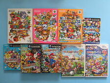 MARIO PARTY 1 2 3 4 5 6 7 8 9 JAPAN IMPORTS N64, GAMECUBE, Wii VIDEO GAME JP LOT