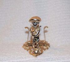 """Vintage Gold Taper Candle Holder Angel adn Heart Design 3"""" Tall 3"""" Base"""