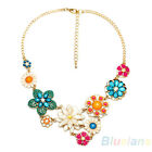 Hot Sale Vintage Flower Bohemian Style Pretty Choker Necklace Pendant Chain B5AU
