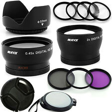 Professional Wide + 2X Tele Lens Kit for Nikon AF Nikkor 50mm f/1.4D DSLR Camera