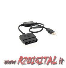 ADATTATORE CONVERTITORE JOYSTICK PLAYSTATION DA PS2 A PS3 USB CONTROLLER JOYPAD