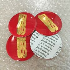 4pcs 70mm Red Gold Wheel Center Caps Decal Sticker Badge Emblem Cover BBS Honda