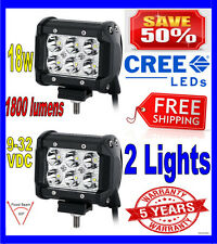 2X 4INCH 18W CREE LED WORK LIGHT BAR FLOOD OFFROAD UTE REVERSING TRUCK POD