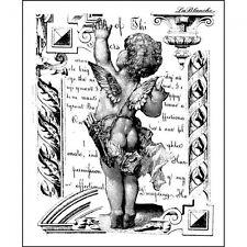 Lablanche craft scrapbooking card stamp waving cupid cherub angel 1356
