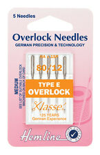 Size 80/12 Sewing Machine Needle - Klasse Overlock Needles Type E - Pack 5