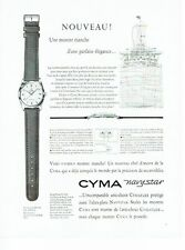 PUBLICITE ADVERTISING 126  1957  la montre Cyma navystar
