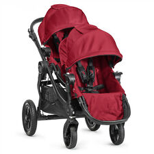 Baby Jogger 2016 City Select Double Stroller - Red on Black Frame NEW - OPEN BOX