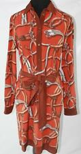 AUTH $1395 Gucci Women Silk Long Sleeve Dress 44/8
