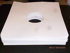 "NEW 100 12"" Record Sleeves White Paper Inner LP Vinyl Album 33 acid free"