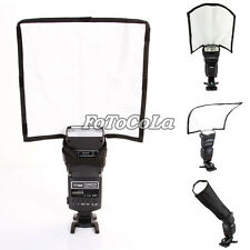 PRO Foldable Reflector/Reflective Speedlight Snoot/Sealed Flash Softbox Diffuser