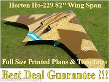 "Horten Ho-229 1/8 Scale 82"" WS RC Airplane Full Size PRINTED Plans & Templates"