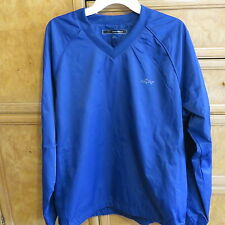 Men's golf Greg Norman V-neck blue rain gear Pullover size M brand new NWT $75