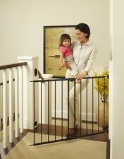 Baby Pet Gate Safety Lock Toddler Dog Stairs Barrier Extra Wide Tall Metal Grate