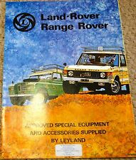 Land Rover Series Accessories PTO Capstan Hydraulic Winch Sales Brochure 1980