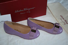 SALVATORE FERRAGAMO KIDS VARINA MINI LILA #11us LITTLE KIDS $325