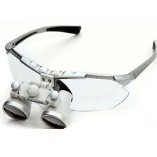 Silver Surgical Binocular Loupes 3.5*420mm Dental Optical Glass Loupe Quality CE