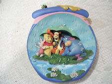 """Disney POOH'S HUNNYPOT ADVENTURES """"It's Just a Small Piece of Weather"""" Plate"""