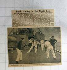 1915 Game Of Deck Hockey Being Played On British Warship In The North Sea