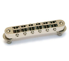 Gotoh GE101B Nickel Tune-O-Matic Guitar Bridge w/Nashville Studs for USA Gibson®