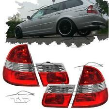 REAR TAIL LIGHTS RED+CLEAR FOR BMW E46 98-05 SERIES 3 TOURING LAMP