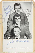 BUDDY HOLLY AND THE CRICKETS SIGNED 10X8 PHOTO, GREAT CLASSIC IMAGE