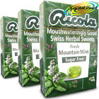 3x Ricola Fresh Mountain Mint Swiss Herbal Drops Lozenges Sweets Sugar Free 45g
