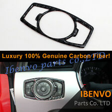 Luxury Carbon Fiber Headlight Switch Button Cover Trim For Ford Mustang 2015-17