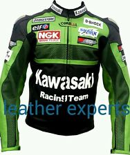 KAWASAKI GREEN 2015  MOTORBIKE LEATHER JACKET - CE APPROVED FULL PROTECTION
