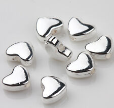 25pcs Tibet Silver Heart Loose Spacer Beads Pendant Jewelry Finding 6x5mm DIY