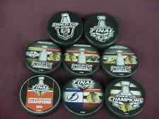 2015 NHL Chicago Blackhawks Stanley Cup Playoffs Hockey Eight (8) Puck Pack