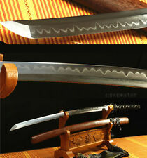 "41"" Folded STEEL CLAY TEMPERED BLADE ROSEWOOD SAYA JAPANESE SAMURAI SWORD KATANA"