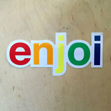 Enjoi skateboards vinyl sticker decal bumper rainbow logo script helvetica font