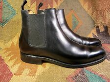 Black lether Loding  shoes Chelsea Boot Size 8