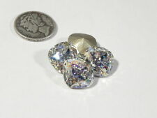 1 - SWAROVSKI 4470 WHITE PATINA F 12MM CUSHION CUT STONE