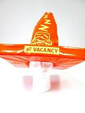DISNEY THEME PARK ORANGE YELLOW CARS MCQUEEN COZY CONE MOTEL COSTUME HAT OS NWT