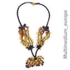 Kordel kette Natur Bernstein Kette schwarz Honig Butterscotch Amber necklace