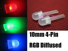 20pcs 10mm 4-Pin Tri-Color RGB Diffused Common Anode Red Green Blue LED Leds