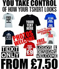 custom t shirt printed design your tshirts personalised work logo printing text