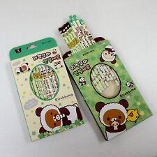 8pcs Cute Rilakkuma Panda Ver. Wooden Pencil B Lead Stationary Writing Supplies