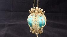 Vintage turquoise, rhinestone ornament
